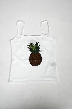 PINAPPLE SHORT SLEEVED TOP ( GT12 )